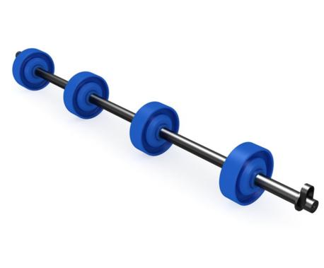 Radachsen (Ø 48 mm) - für gerade Bahnen