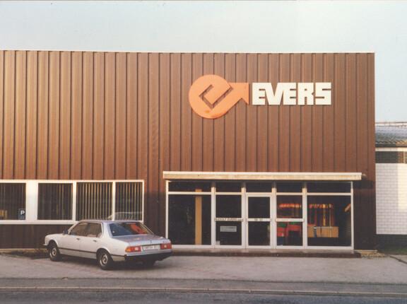 1978 zieht die Evers GmbH in ein geräumigeres Bürogebäude mit besserer Anbindung