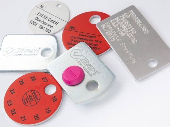 Verschiedene Kennzeichnungsanhänger