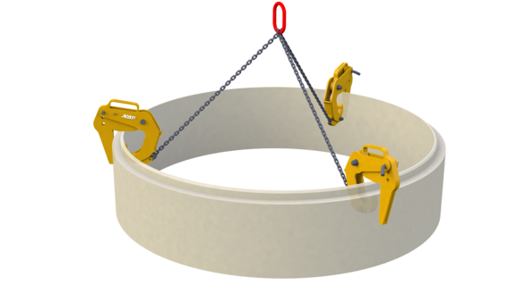 Betonrohrgehänge
