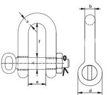 Schäkel ähnlich DIN 82101 Form C