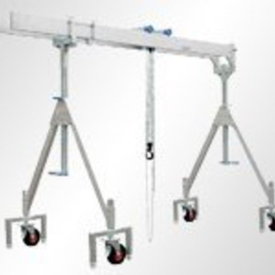 Alu-Portalkran mit Doppelträger, verfahrbar unter Last | Evers GmbH