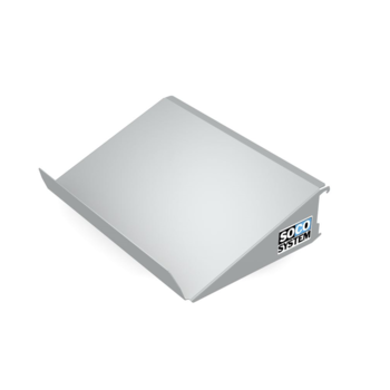 Packplatte für Rollenbahn-Montage