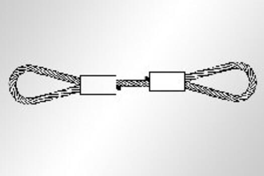 Kabelschlagstroppen mit verpressten Schlaufen