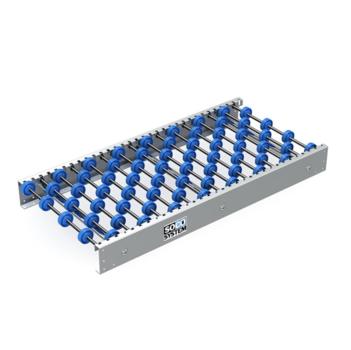 Freilaufende Rollenbahnen mit 48-mm-Einzelradachsen