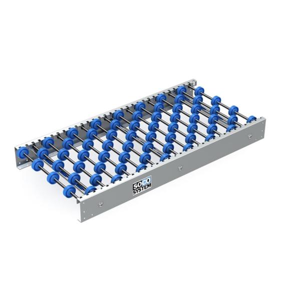 Freilaufende Rollenbahnen mit 48-mm-Einzelradachsen   Evers GmbH