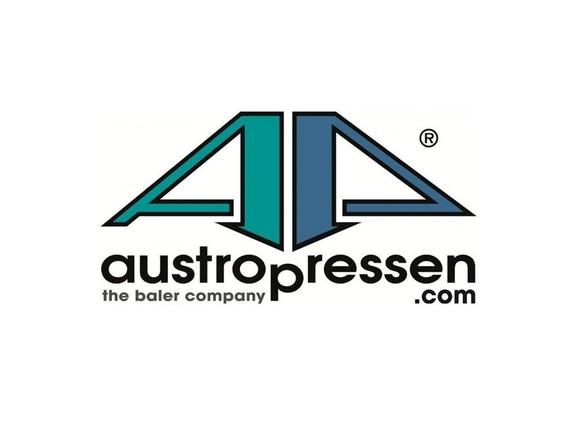 Das Logo des Unternehmens austropressen auf weißem Hintergrund.