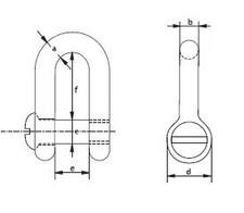 Schäkel ähnlich DIN 82101 Form B