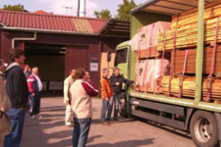 Grundschulung Ladungssicherung auf dem LKW