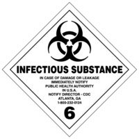 Gefahrgutklasse 6.2: Infectious Substance