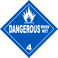 Gefahrgutklasse 4.3: Dangerous When Wet