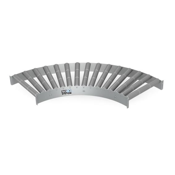 Freilaufende Kurven mit 3-teiligen 48-mm-Kunststoffrollen | Evers GmbH