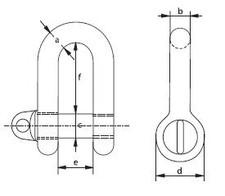 Schäkel ähnlich DIN 82101 Form A