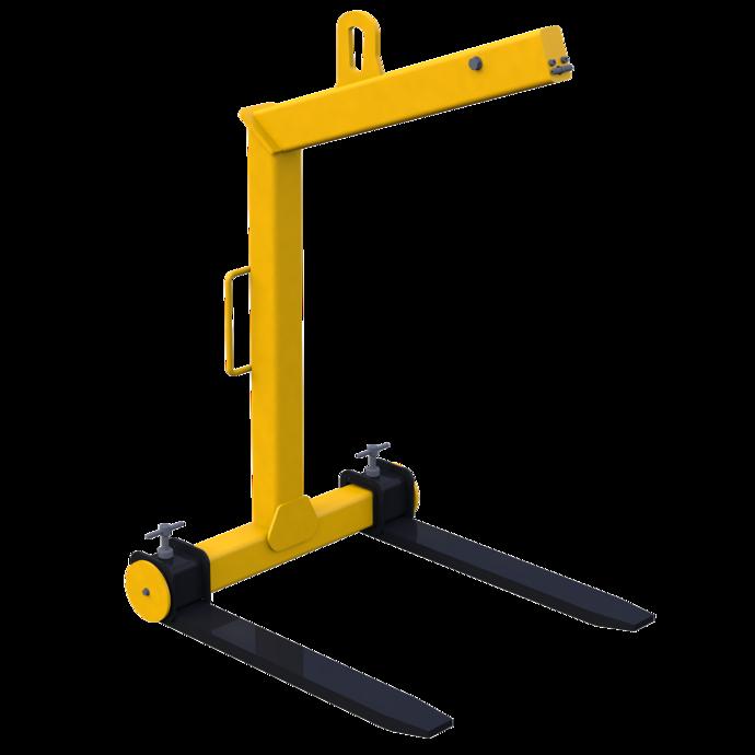 Ladegabel mit selbsttätigem Gewichtsausgleich mit fester Ladehöhe