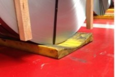 Coil auf einer Coilmatte: Nahaufnahme