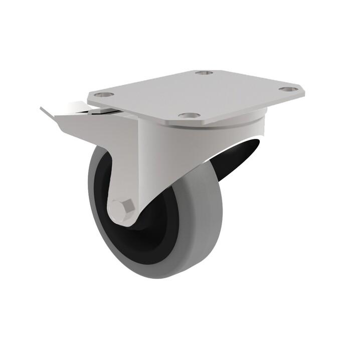 Schwenkrollen aus TPR: Die Dolly Transportroller besitzen vier Schwenkrollen aus abriebfestem TPR