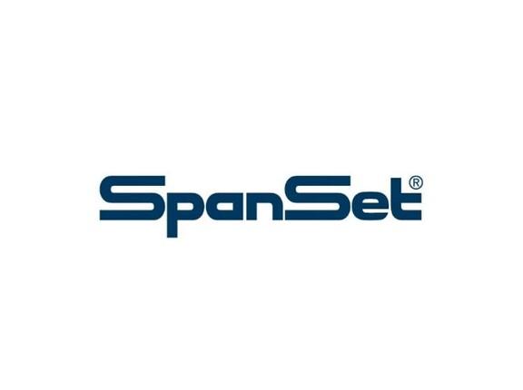 Das Logo des Unternehmens SpanSet auf weißem Hintergrund.