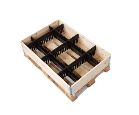 Einsteckgefache im Einsatz in Kiste