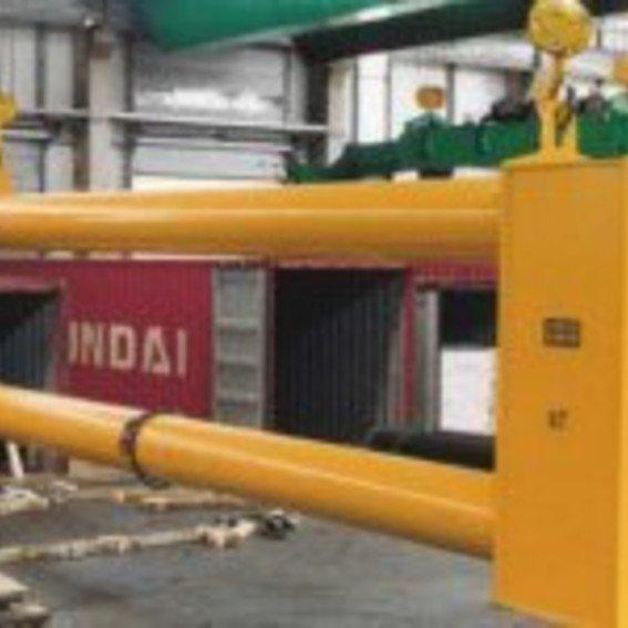 Containerbeladehaken für den 2-Kran-Betrieb | Evers GmbH