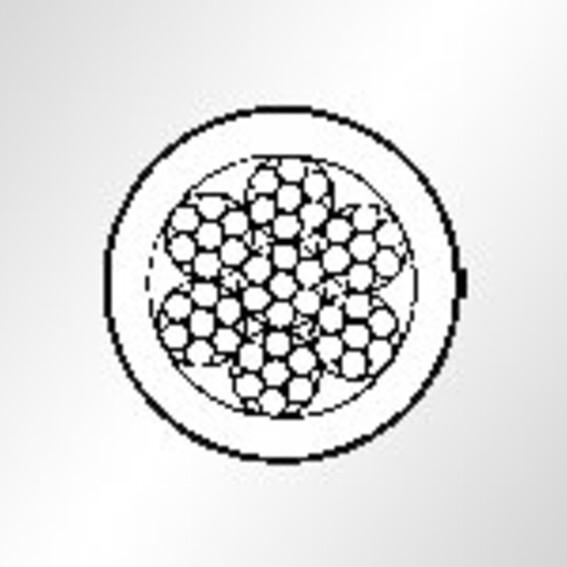 Edelstahlseil,weiß ummantelt, Konstr. 7 x 7 | Evers GmbH