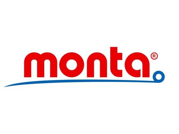 Das Logo des Unternehmens Monta auf weißem Hintergrund.