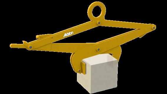 Blockgreifer für Lasten mit glatten Oberflächen