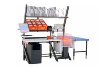 Packtisch mit Anbauten