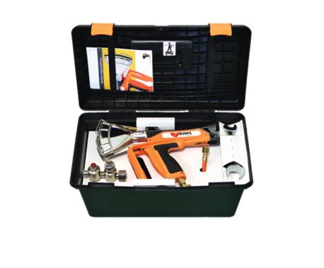 Schrumpfpistole Ripack 3000 inkl. Koffer, Gasschlauch und Druckminderer