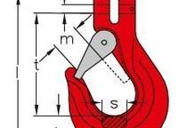 Gabelkopfhaken mit Sicherungsfalle GK8