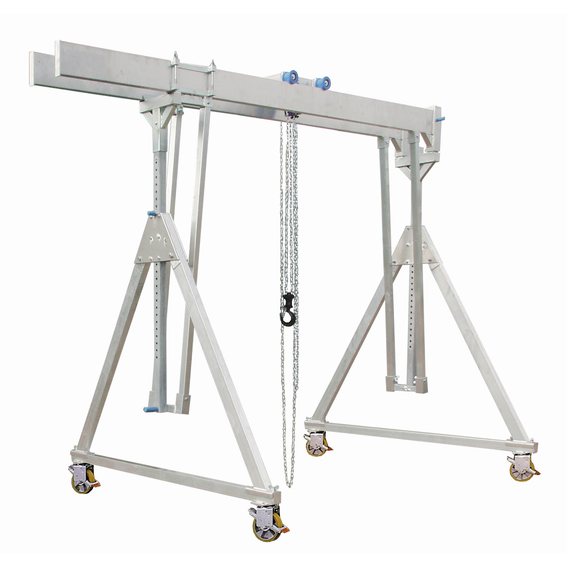 Fahrbarer Alu-Portalkran mit Doppelträger | Evers GmbH