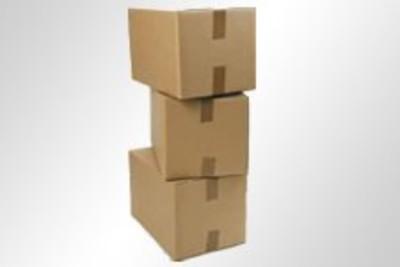 Wellpapp-Faltkartons braun