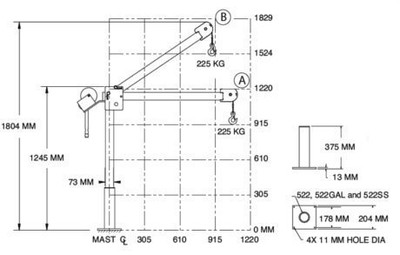 Tragbarer Montage-Kran bis 225 kg