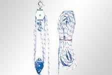 Flaschenzug mit Seil