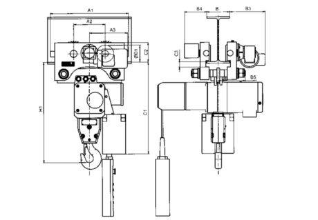 Elektrokettenzug Typ 66/04 AK